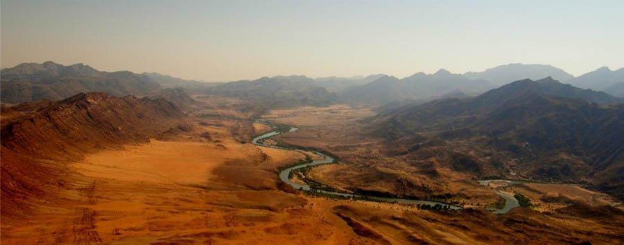 Deserto, fiumi e cascate